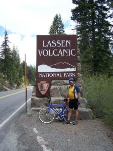 A the Lassen NP entrance