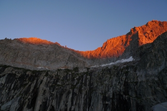 Precipice Lake alpenglow