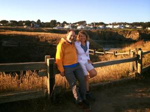 Relaxing in Mendocino